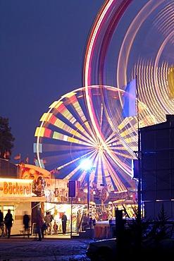 Fair at fairground near Marien bridge Dresden Saxony Germany
