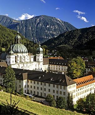 Ettal Abbey, baroque Benedictine monastery, Upper Bavaria, Bavaria, Germany, Europe