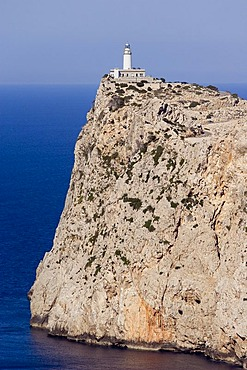A view on the Cap de Fortmentor an its lighthouse, Majorca, Balearic Islands, Spain
