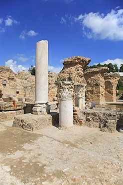 Ruins of Carthage, (Antoninus-Pius-Thermen), Carthage, Tunisia