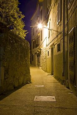 Narrow alleys in the Old Town of Cres, island Cres, Primorje - Gorski kotar, Croatia