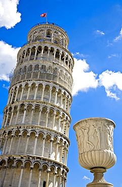 Leaning tower of Pisa Piazza dei Miracoli Pisa Tuscany Italy