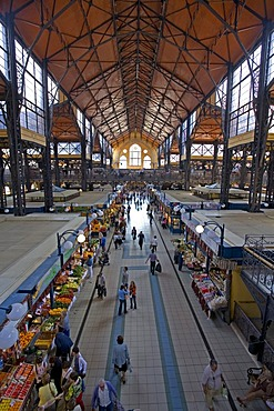 Centre Market Hall in Neogothic Style, Budapest, Hungary, Southeast Europe, Europe,