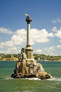 Memorial of sunken Ships Landmark of the Town, Sevastopol, Crimea, Ukraine, South-Easteurope, Europe,