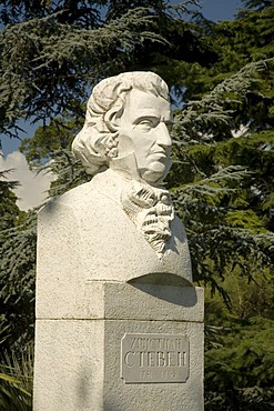 Founder of Botanical Garden Christian Steben, Botanical Garden, Jalta, Crimea, Ukraine, South-Easteurope, Europe,