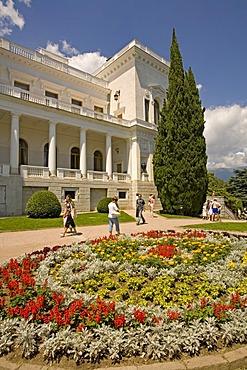 Park and Garden of Livadija Palace, Livadija Palace, Summer Jalta, Crimea, Ukraine, South-Easteurope, Europe,