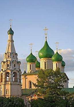 Sovetskaja Place with the Church of Elijah the Prophet, Yaroslavl, Russia