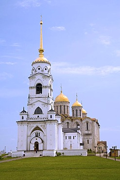 Bell tower of the Assumption cathedral, Bogoljubovo, Vladimir, Russia