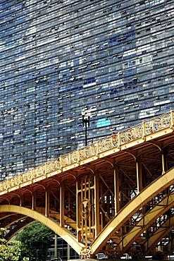 Santa Ifigenia bridge and skyscraper, Sao Paulo, Brazil