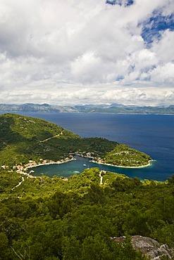 View onto Okuklje Harbour, Mljet Island, Dubrovnik-Neretva, Dalmatia, Croatia, Europe