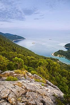 Montokuc lookout point in the Mljet National Park, Mljet Island, Dubrovnik-Neretva, Dalmatia, Croatia, Europe