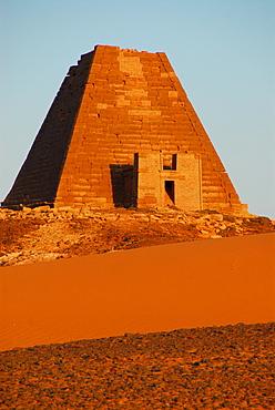 Pyramid, Meroe, Sudan
