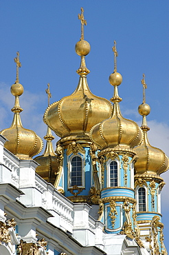 Towers of the palace of Katharina, Pushkin near St. Petersburg, Russia