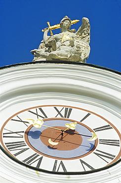 Clock and sculpture of Pilgrimage church Sonntagberg