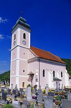 Church in Niederranna, Wachau Region, Lower Austria, Austria