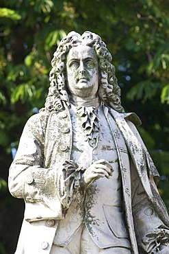Statue of Johann Bernhard Fischer von Erlach, in front of the Vienna city hall, Vienna, Austria, Europe