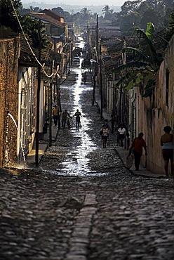 Street after a thunderstorm, Trinidad, Cuba