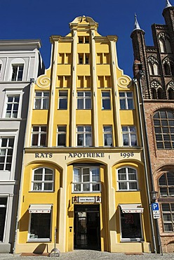 Architecture in the Hanseatic city of Stralsund, Mecklenburg Western Pomerania, Germany, Europe