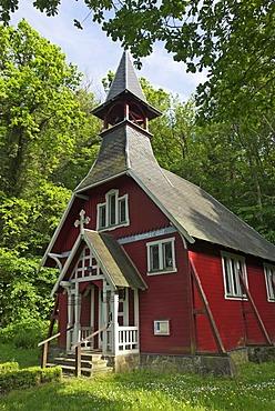 Swedish chapel at Ralswiek, Ruegen island, Mecklenburg Western Pomerania, Germany, Europe