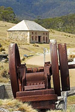 Historic architecture in the penal colony of Darlington, Maria Island National Park, Tasmania, Australia