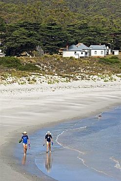 Children at the beach, Maria Island National Park, Tasmania, Australia