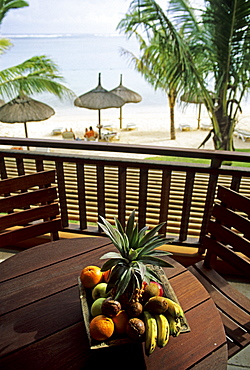 View from a balcony at hotel Heritage, Mauritius island, Africa