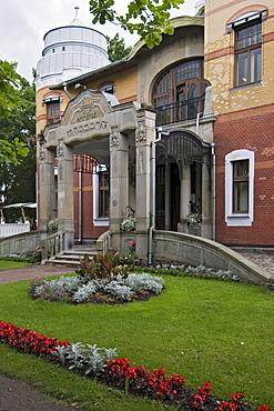 Entrance to Villa Ammende in Paernu, Estonia, Europe