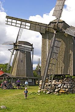 Windmills, Angla, Saaremaa Island, Estonia, Europe