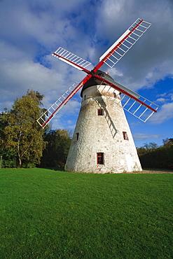 Dutch Windmill, Kirkemollen, Pedersker, Bornholm, Denmark, Europe