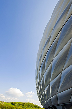 Allianz Arena, Soccer stadium, Froettmaning, Munich, Bavaria, Germany, Europe, PublicGround