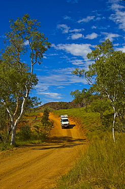 4WD vehicle on a dirt road in the Bungle Bungle, Purnululu National Park, Australia