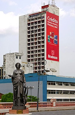 Monument of Euterpe, muse of music and of lyric poetry, Manaus, Brazil