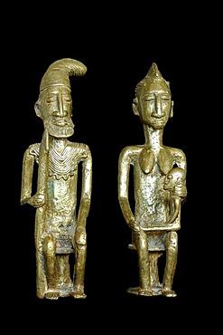 Royal couple, bronze statues, Mali, Africa