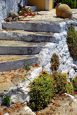 Old stairs, Fiscardo, Kefalonia, Ionian Islands, Greece