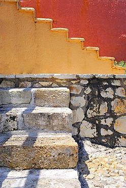 Stairs, Fiscardo, Kefalonia, Ionian Islands, Greece
