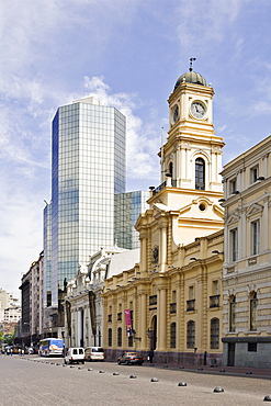 Historical National Museum and the central post office at Plaza de Armas, Santiago de Chile, Chile, South America