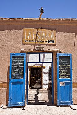 Restaurant in San Pedro de Atacama, Region de Antofagasta, Chile, South America