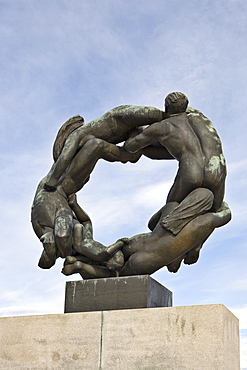 Bronze sculpture in Vigeland Sculpture Park at Frogner Park, Oslo, Norway, Scandinavia, Europe