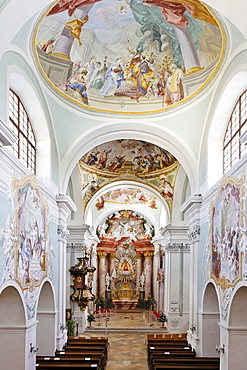 Interior view, Mariazell Cloister, Klein-Mariazell, Triestingtal (Triesting Valley), Lower Austria, Austria, Europe