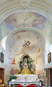 Altar featuring the suffering Redeemer on the Danube, Thenneberg Church, Triestingtal, Lower Austria, Austria