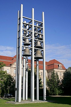 Bell tower at the location of the torn off garrison church, Potsdam, Brandenburg, Germany