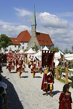 Medieval festival in Burghausen, Upper Bavaria, Bavaria, Germany, Europe