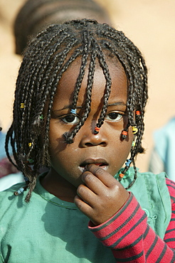 Girl with braids in her hair, Cameroon, Africa