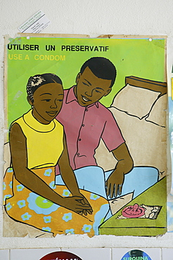 Poster as part of an HIV awareness campaign, HIV prevention, Garoua, Cameroon, Africa