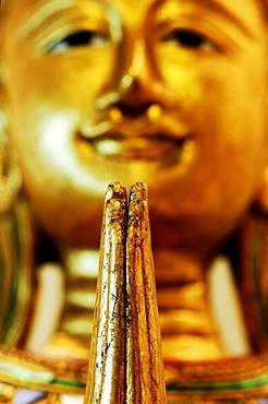 Statue of a Buddha, detail