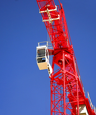 Construction crane, red
