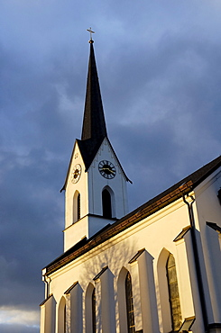 Late gothic styled church in the hamlet of Pietzenkirchen at the lake Simssee, Bavaria Germany