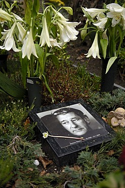 Grave of helmut Newton in Berlin, Germany