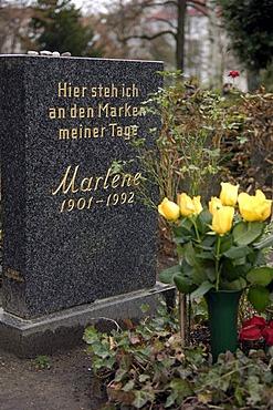 Grave of Marlene Dietrich in Berlin, Germany