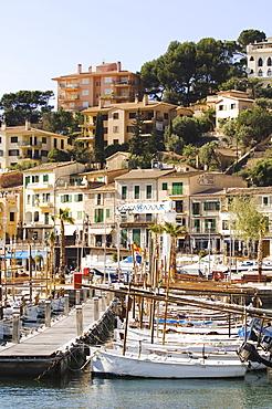 Image of fishing boats, historic centre of Port de Soller, Majorca, Balearic Islands, Spain, Europe